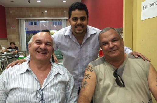 Bate papo na padaria Marco Vivacqua, Breno e José Rubens